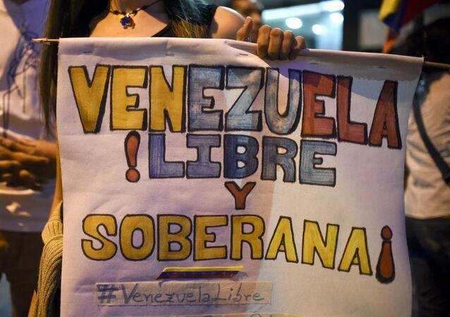 Partidarios de la oposición venezolana celebran la victoria en las elecciones parlamentarias