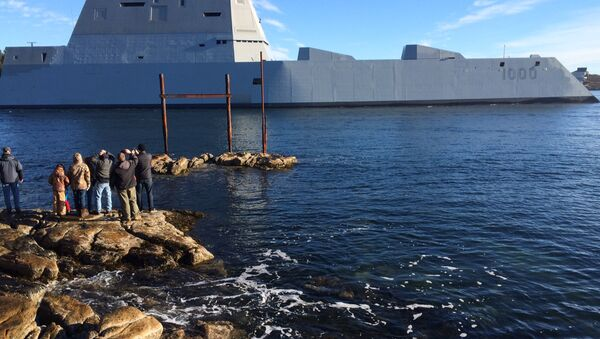 USS Zumwalt, el desctructor de EEUU - Sputnik Mundo