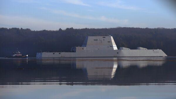 USS Zumwalt, destructor furtivo de la Armada de EEUU - Sputnik Mundo