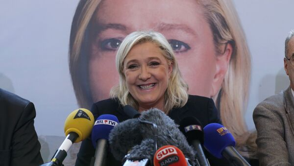 Marine Le Pen, líder del partido Frente Nacional - Sputnik Mundo
