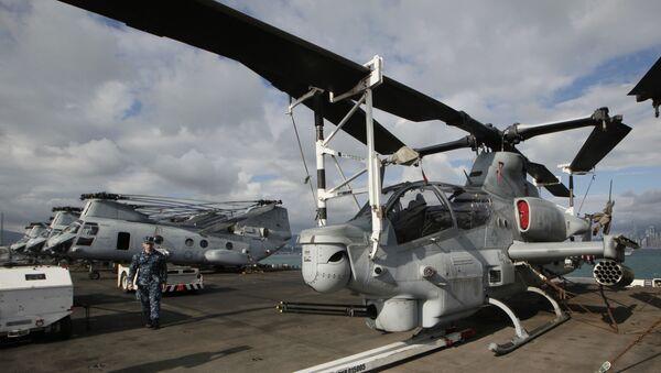 Helicópteros estadounidenses (Archivo) - Sputnik Mundo