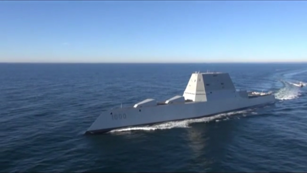USS Zumwalt, un buque destructor de misiles guiados - Sputnik Mundo