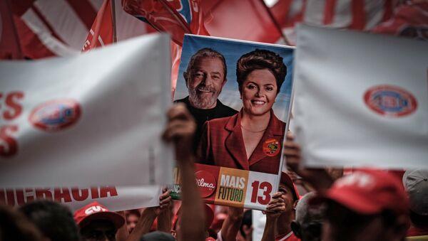 Manifestación en contra del impeachment a presidente de Brasil, Dilma Rousseff - Sputnik Mundo