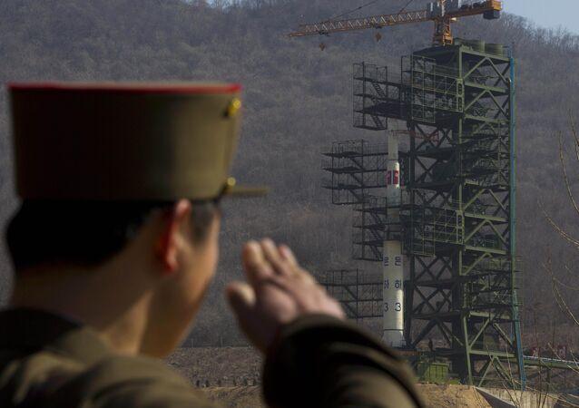 El lanzamiento de un cohete nortecoreano desde la base de Sohae (archivo)