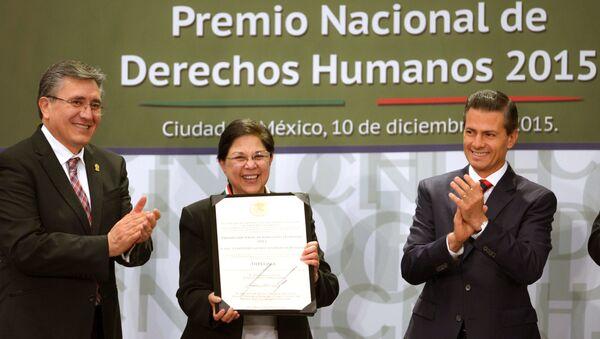 Luis Raúl González Pérez, presidente de CNDH, Consuelo Gloria Morales Elizondo, y Enrique Peña, presidente de México - Sputnik Mundo