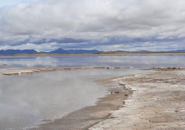 Un salar de Bolivia