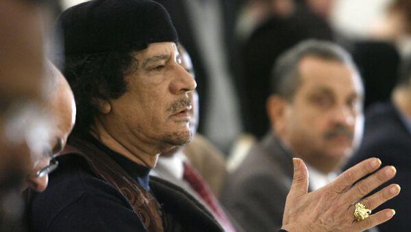 Ex líder de Libia Muammar Gadafi - Sputnik Mundo
