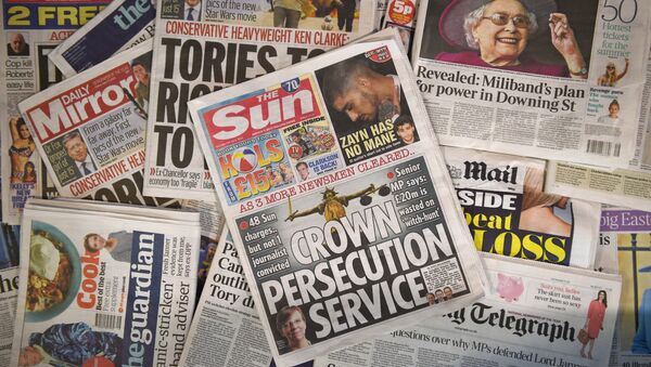 Escándalo de las interferencias ilícitas de la prensa popular en Reino Unido - Sputnik Mundo