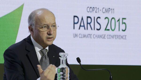 Laurent Fabius, canciller francés y el presidente de COP21 - Sputnik Mundo