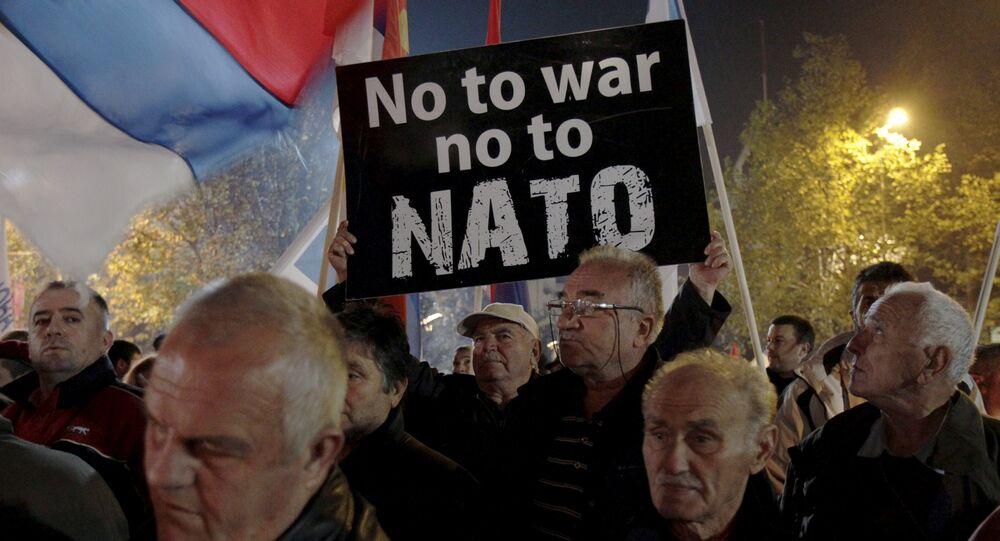 La protesta contra la OTAN en Podgorica