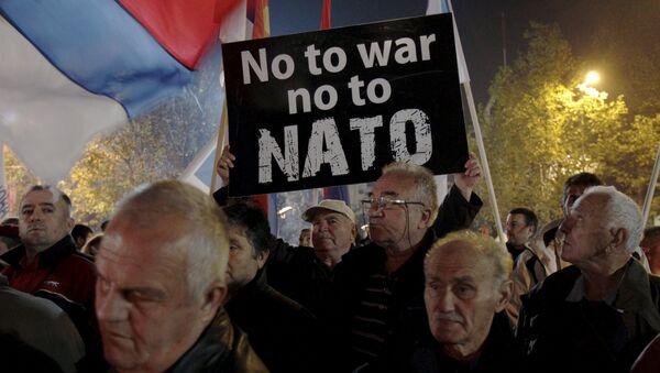 La protesta contra la OTAN en Podgorica - Sputnik Mundo