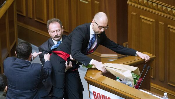 Arseni Yatseniuk, primer ministro de Ucrania - Sputnik Mundo