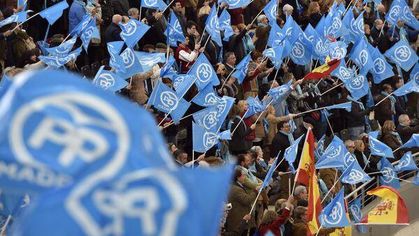 Banderas de España y del Partido Popular - Sputnik Mundo