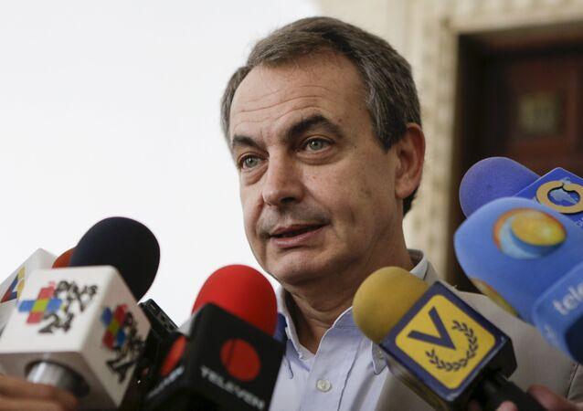 José Luis Rodríguez Zapatero, expresidente del Gobierno de España, durante su visita a Venezuela