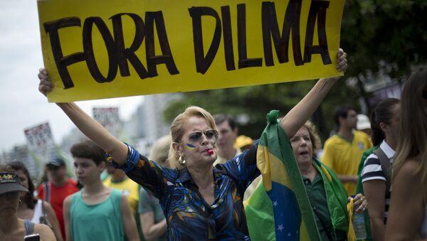 Manifestación de protesta en Río de Janeiro - Sputnik Mundo