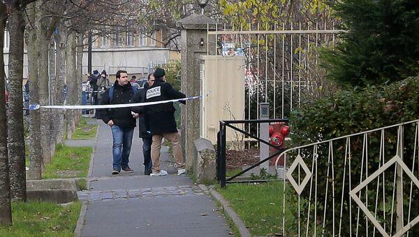El lugar del incidente en Aubervilliers, en los alrededores de París - Sputnik Mundo