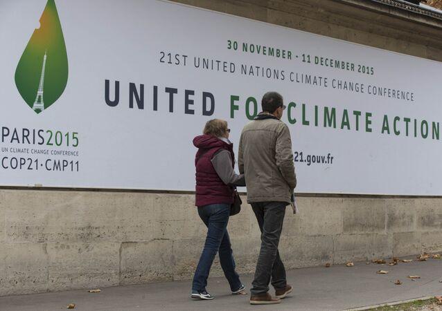 La cumbre de cambio climático COP 21 en París