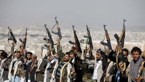 Hutíes en Yemen - Sputnik Mundo