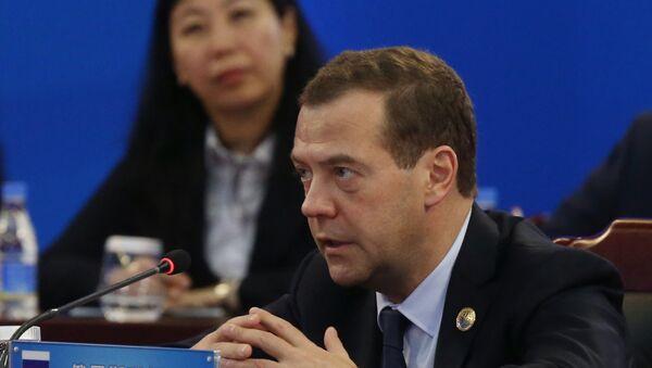 Dmitri Medvédev, el primer ministro ruso, durante la reunión del Consejo de Jefes de Gobierno de la Organización de Cooperación de Shanghái - Sputnik Mundo