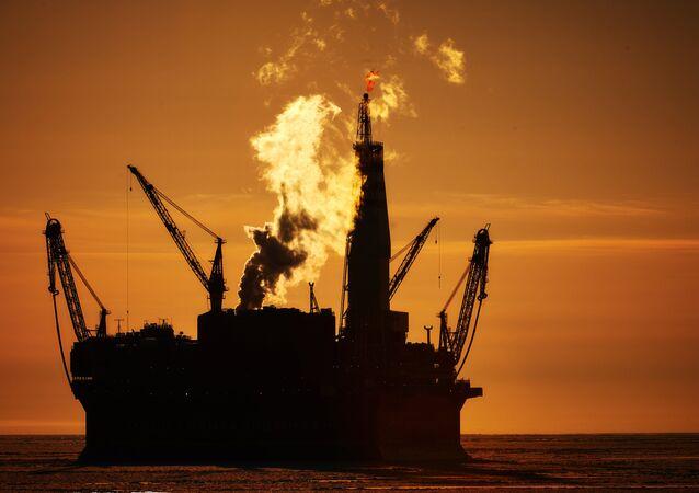 Plataforma petrolera marítima Prirazlomnaya en Rusia