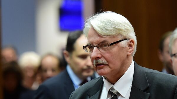 Poland's Foreign Minister Witold Waszczykowski attends an EU foreign affairs council at the European Council, in Brussels, on December 14, 2015. - Sputnik Mundo
