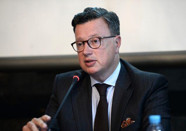 Edouard Ferrand, presidente del grupo parlamentario del Frente Nacional francés en la Eurocámara
