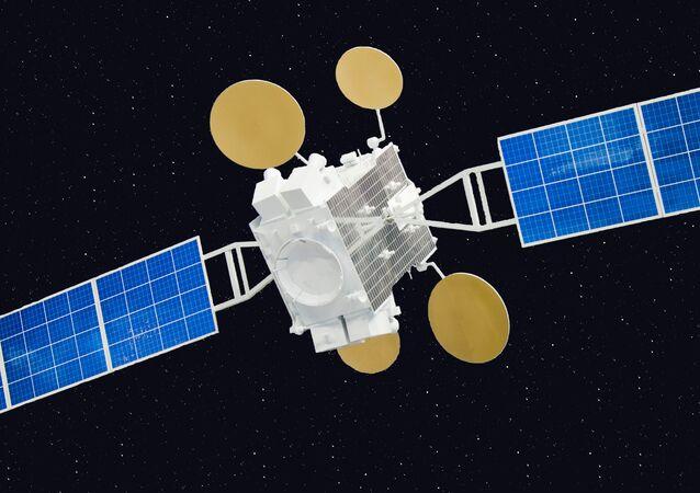Modelo de satélite de comunicaciones israelí Amos-5