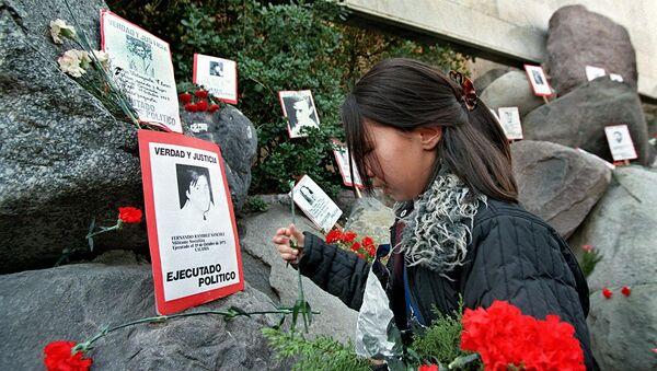 Memorial de los Detenidos Desaparecidos en el cementerio de Santiago, Chile - Sputnik Mundo