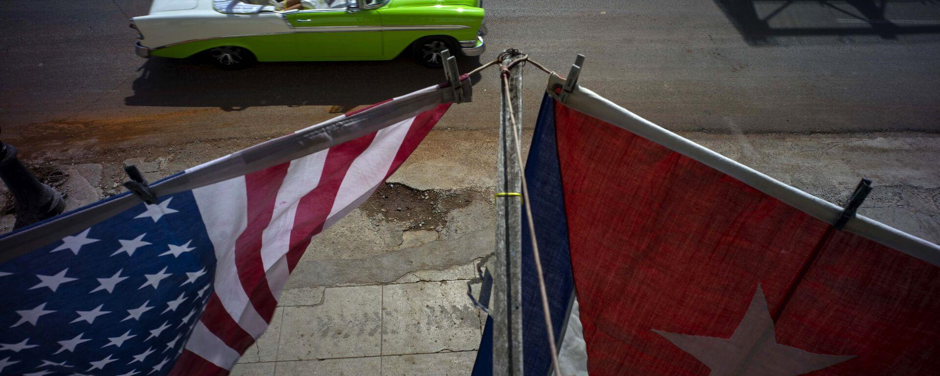 Banderas de EEUU y Cuba en La Habana - Sputnik Mundo, 1920, 02.06.2021