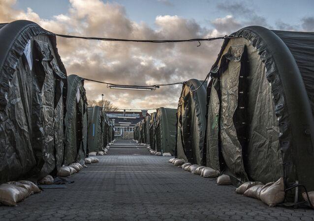 Campo de refugiados en Dinamarca