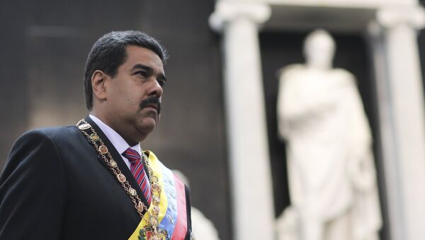 Nicolás Maduro, presidente de Venezuela, durante la conmemoración del aniversario de la muerte del libertador Simón Bolívar - Sputnik Mundo