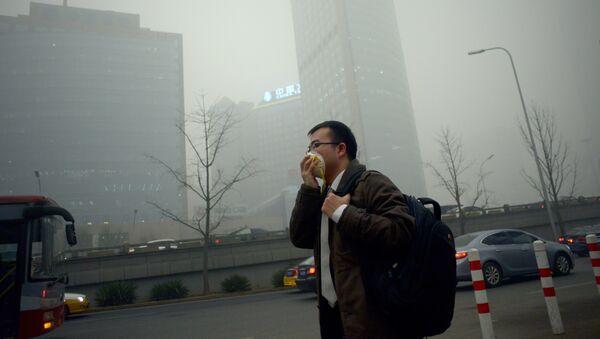 Contaminación en Beijing, China - Sputnik Mundo