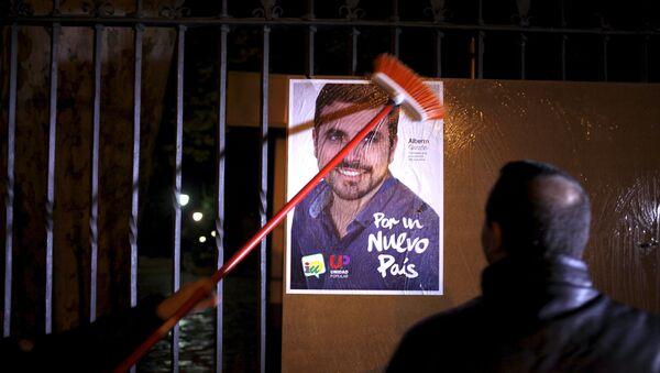 Cartel electoral de la Unidad Popular - Sputnik Mundo