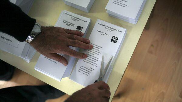 Un colegio electoral en Ronda, España - Sputnik Mundo