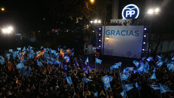 Los resultados definitivos confirman la victoria del partido de Rajoy - Sputnik Mundo