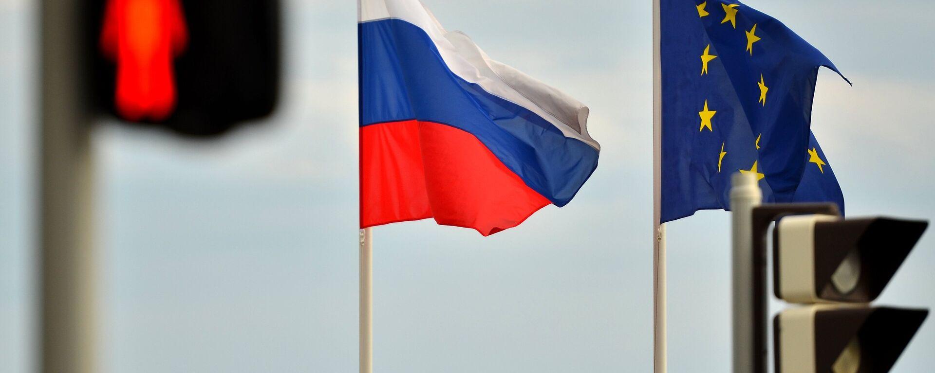 Banderas de Rusia y la UE - Sputnik Mundo, 1920, 18.06.2021