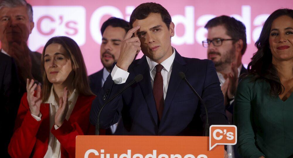 Albert Rivera, líder del partido español Ciudadanos