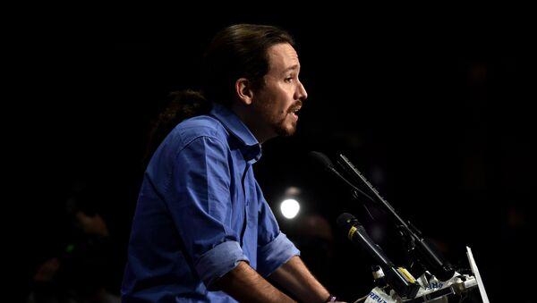 Pablo Iglesias, líder del partido de izquierda Podemos - Sputnik Mundo
