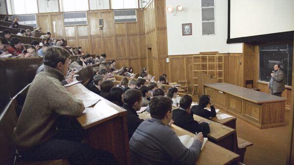 Clase en una universidad en Rusia - Sputnik Mundo