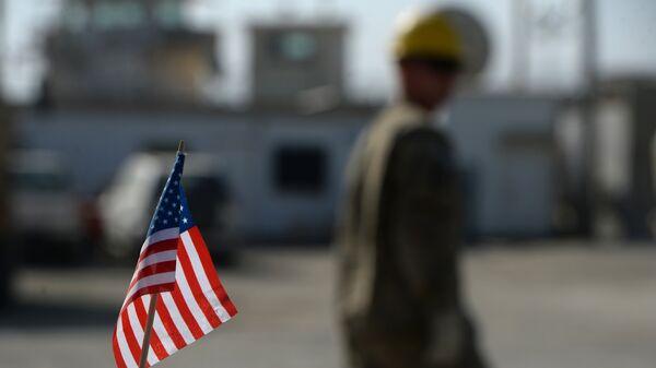 Bandera estadounidense en la Base Aérea de Bagram - Sputnik Mundo