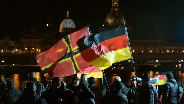 Manifestación antiislámica en Dersde, Alemania - Sputnik Mundo