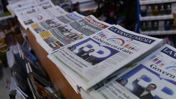 Portadas de los periódicos tras las elecciones generales en España - Sputnik Mundo