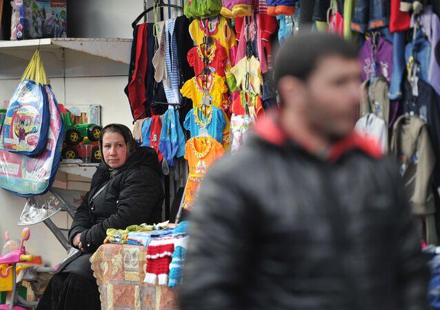 Un mercado en Moscú