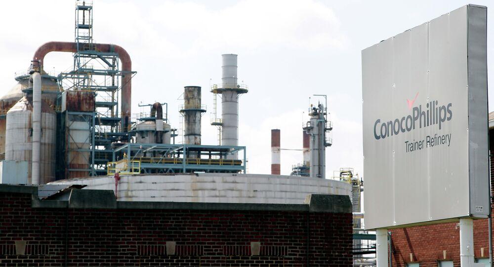 Una refinería de ConocoPhillips en EEUU (archivo)