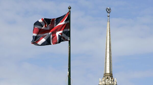 Bandera nacional británica, Moscú - Sputnik Mundo