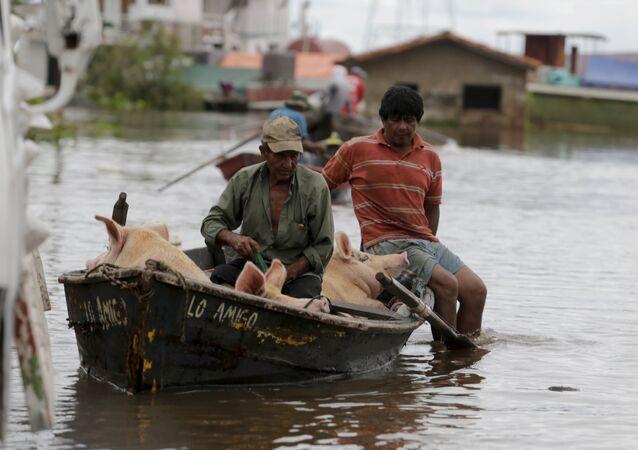 Inundación en Asunción, Paraguay