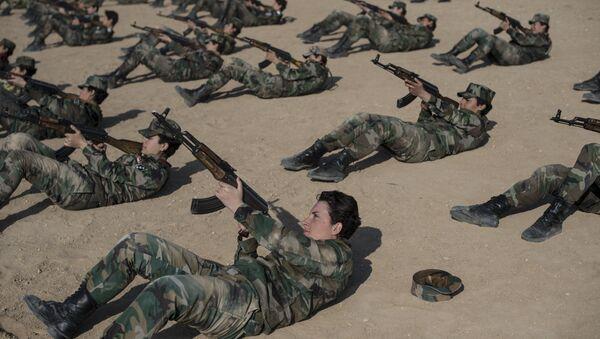 Academia militar femenina en Damasco - Sputnik Mundo