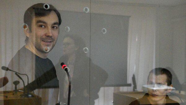 Ciudadanos rusos, Evgueni Eroféev y Alexandr Alexándrov, durante el proceso penal en Ucrania - Sputnik Mundo