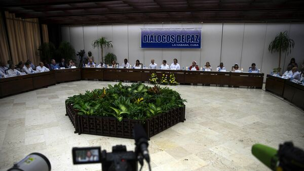Diálogos de paz en la Habana (archivo) - Sputnik Mundo