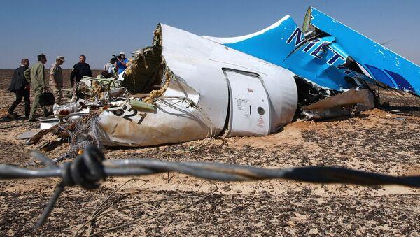 Los restos del avión ruso siniestrado en Egipto - Sputnik Mundo